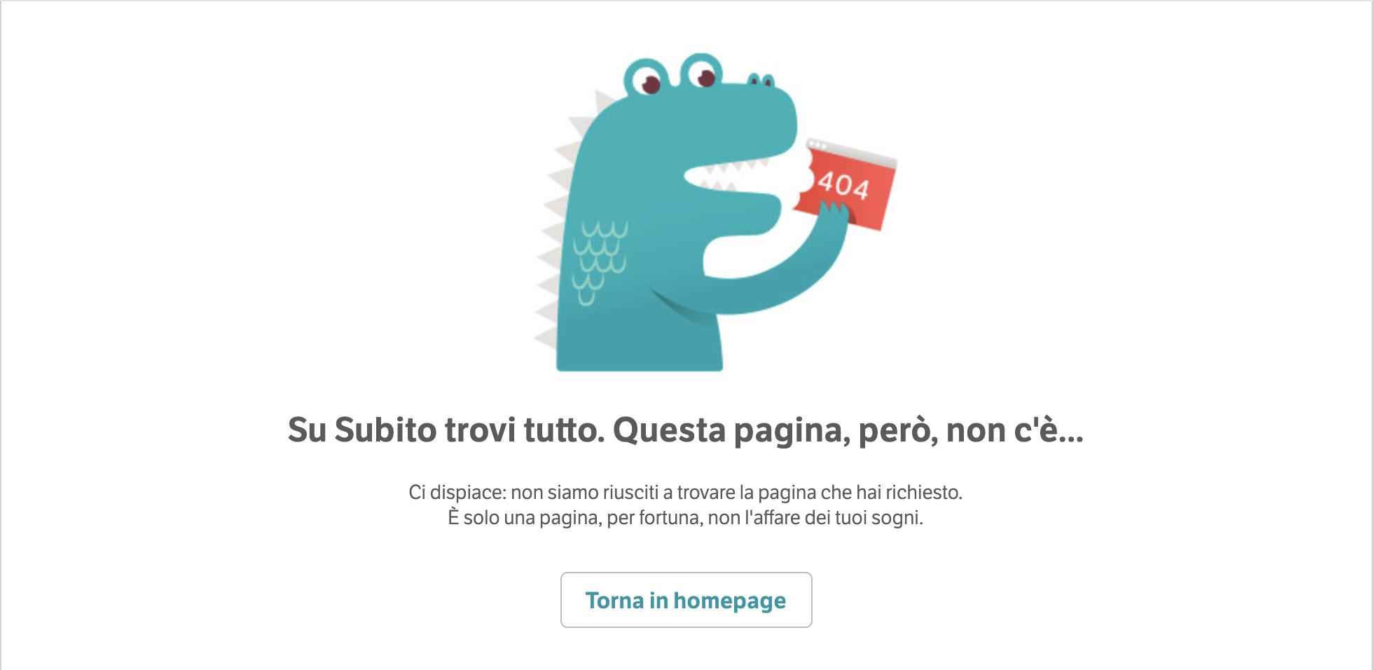 Pagine error 404 - Subito
