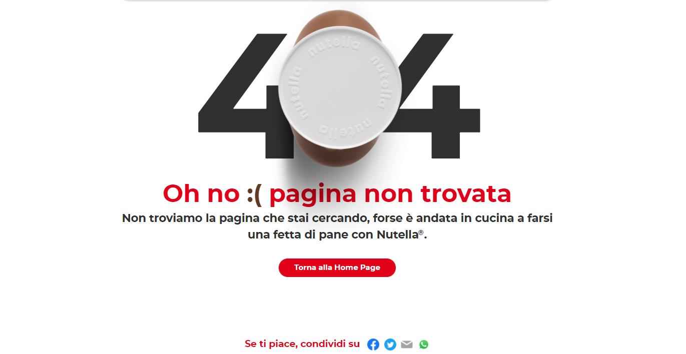 Error 404 Nutella